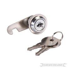16mm Nickel Plated Cam Lock - Silverline 217776 -  cam lock 16mm silverline 217776