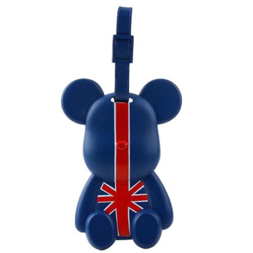 Fashional Luggage Tag Bag Tags Silicone Name Tag Travel Tag [Blue Union Jack]