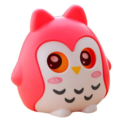 PP Piggy Bank Cartoon Unique Baby Gfts Adult/Children Owl Red