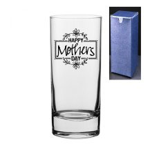Happy Mother's Day Engraved/Embossed Highball Glass