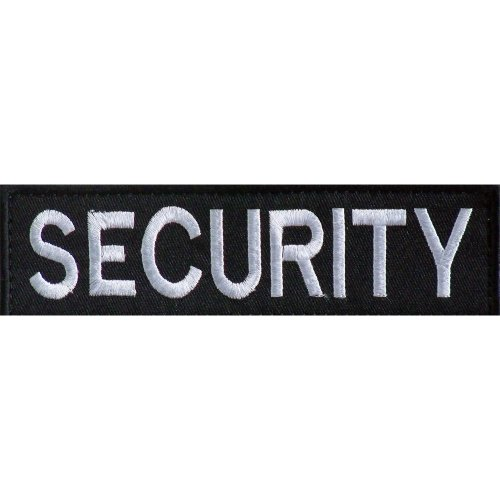 Embroidered SECURITY Patch -Black-14 x 4cm