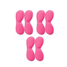 [Set Of 3] Comfortable 4D Memory Foam Shoe Cushions/Pads Heel Insole, PINK