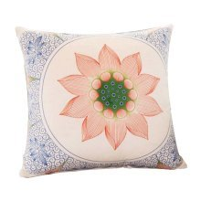 New Style Elegant Hold Pillow Square Decorative Throw Pillow , Lotus, 15 X 15""