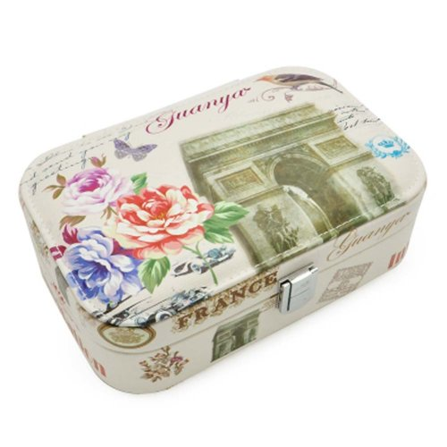 Princess Jewelry Box Rings Earrings Organizer Large Size Necklace Storage Box Case, C