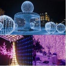 3Mx3M 300LEDs Curtain String Fairy Light