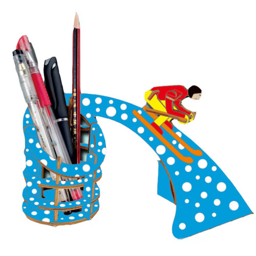 3D Wooden Puzzle Pen Holder DIY Toys Holiday Gifts 2 Packs
