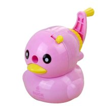 Cute Duck Hand Rotating Pencil Sharpener For Office Classroom Purple