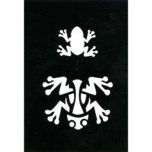 Frog Airbrush Adhesive Stencil -  frog airbrush adhesive stencil 70x 100mm tribal paint flexible wall