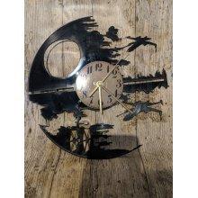 Death Star Vinyl Record Clock home decor gift