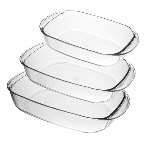 Duralex Ovenchef Set of 3 Rectangle Roasters