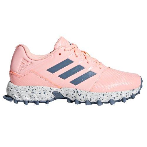 adidas Hockey Junior Kids Girls Field Hockey Trainer Shoe Pink