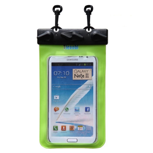"""6.7""""*4.1""""GREEN Waterproof Underwater Swimming Diving Dry Bag Pouch"""
