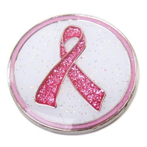 Navika Pink Ribbon Glitzy Ball Marker with Hat Clip