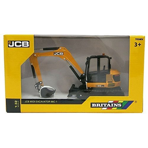 Britains 1:32 JCB Midi Excavator - Collectable Farm Vehicle Toy - Suitable From 3 years
