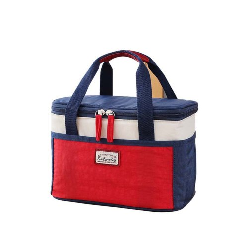 Fashion Thicken Tote Lunch Bag Waterproof Insulated Lunch Bag, BLUE&RED