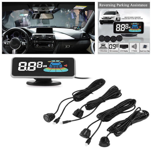 LCD Car Parking Sensor Rear Front Reverse Radar Alert Alarm System