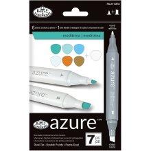 Azure Marker Set 7/Pkg-Meditrina Colors