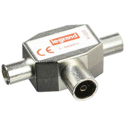Legrand LEG91005 Shielded TV Splitter 1 Female Input 2 Male Outputs Diameter 9.52