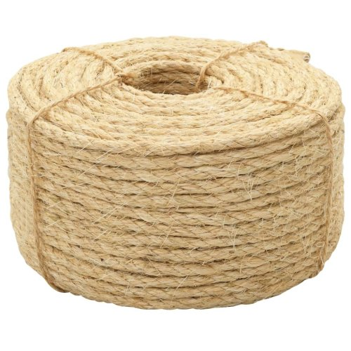vidaXL Rope 100% Sisal 8mm 500m Twisted Twine Braided Rope Cat Scratching