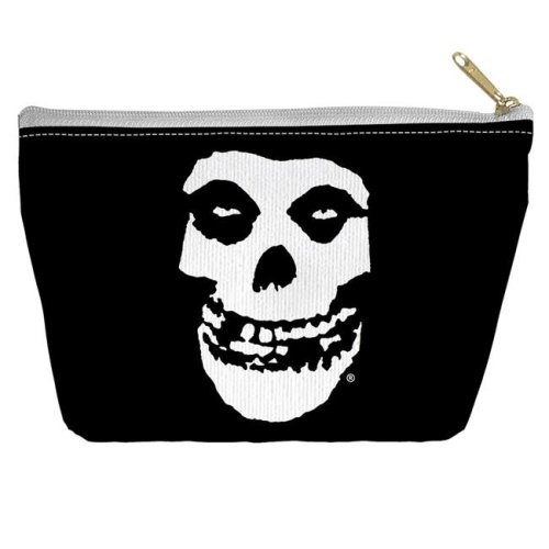 Trevco BAND150-PCH2-8.5x6 Misfits & Fiend Skull-Accessory Pouch, White - 8.5 x 6 in.