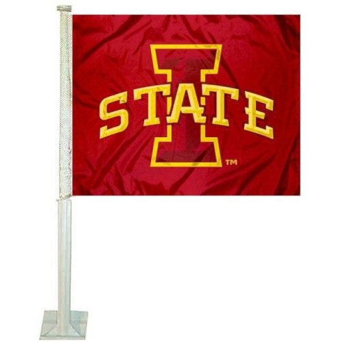 Team ProMark 76822 4 x 6 in. Iowa State Cyclones Ambassador Car Flag, Set of 2