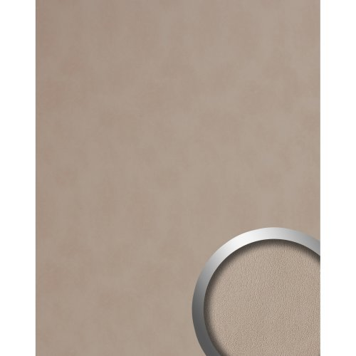 WallFace 19794 Antigrav STONY GROUND Design panelling nappa leather look beige