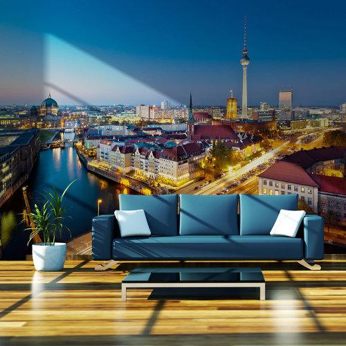 Wallpaper - Berlin view from Fischerinsel (night)