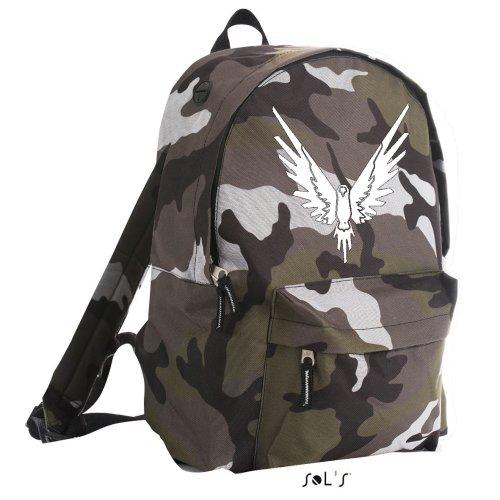 Logan Paul Outline Logo, Camo Rider Backpack