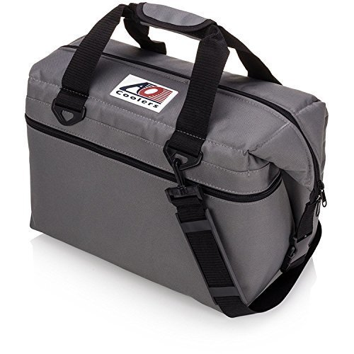 AO Coolers Canvas Soft Cooler with High Density Insulation Charcoal 24 Can