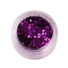 5 Boxes Makeup Glitter Sequins Shining Nail Art Sequins Face Glitter, Purple
