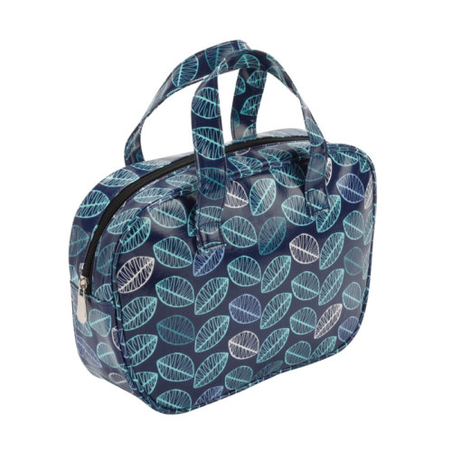 FMG Blue Leaf Vanity Bag with Handles