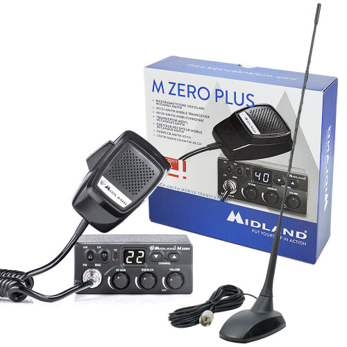 Bundle   CB Radio Midland MZero Plus  with CB  Antenna PNI Extra 48 and magnetic base