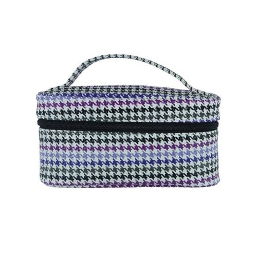Picnic Gift 7520-HT Lemondrop-Chic & Classy Insulated Cosmetics Bag For The Minimalist Cosmoqueens, Houndstooth