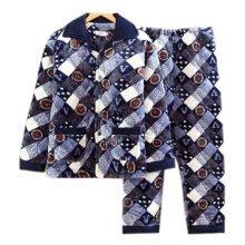 Men Pajamas Warm Thick Cotton Modern Set Sleepwear/Nightwear Clothes for Home, #No.2