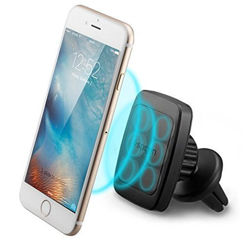 Spigen Kuel [Air Vent][6 Magnets][Universal 360º] Car Phone Holder Mount (Black)