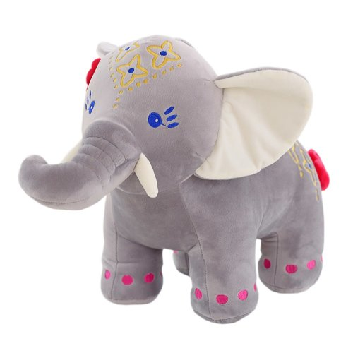 Thai Style Colored Elephant Toy Kids Lovely Plush Doll Soft Nice Stuffed Gift