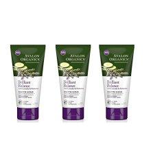 Avalon Organics Lavender Luminosity Exfoliating Enzyme Scrub, 4 oz. (Set of 3)