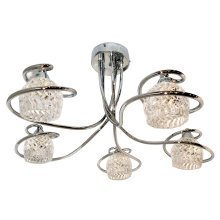Arsenal 5 Arm LED Ceiling Light
