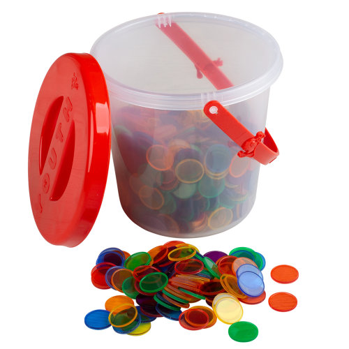 Plastic Counters In A Tub 600Pcs
