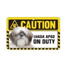 Lhasa Apso Caution Sign