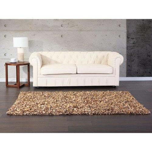 Carpet - Rug -  Shaggy - Leather - MUT