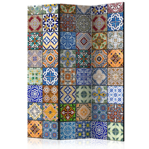 Colourful Mosaic Room Divider | Tile Print Canvas Room Divider