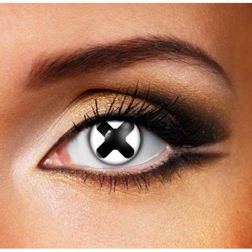Black Cross Contact Lenses (Pair) - Halloween Contact Lenses
