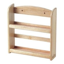 Wooden Wood Kitchen Spice Herb Bottle Jar Wall Rack Storage Holder 2 or 3 Tier