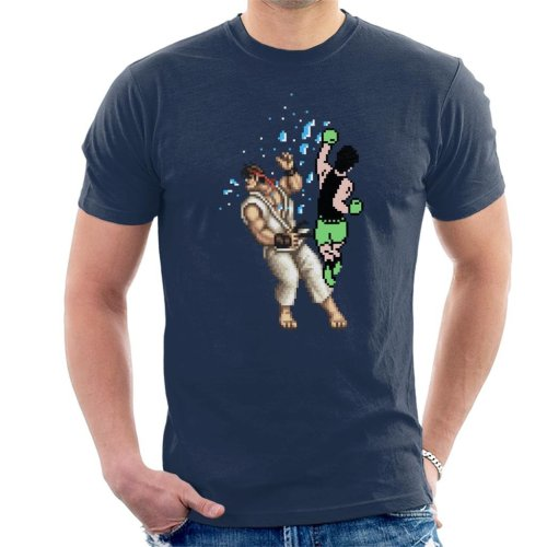 Pixel Fight Punch Out Ryu Street Fighter Men's T-Shirt