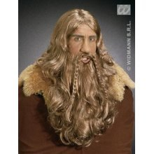Adult's Viking Wig With Beard & Moustache