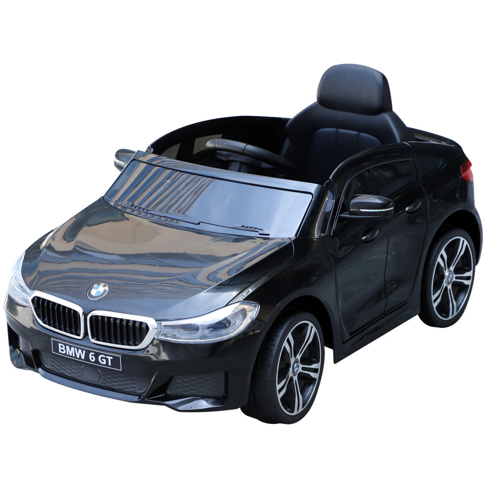 HOMCOM High/Low 2 Speeds Electric Ride On Car 6V w/ Suspension Remote Control Headlights Tail lights MP3 Connection Black Toys & Games