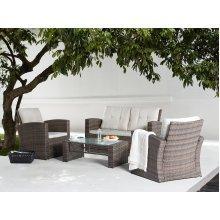 Garden Sofa Set - Patio Set - Rattan - 4 Seater Sofa Set -  LUCA