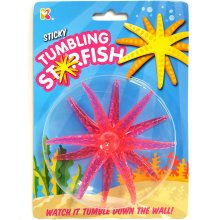 Sticky Tumbling Starfish Toy - Watch it Tumble Down The Wall!