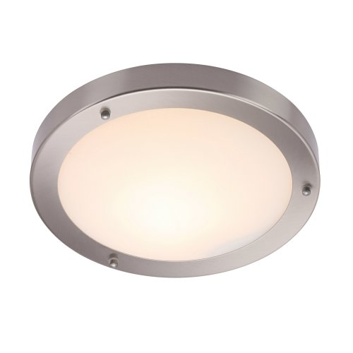 IP44 Modern Bathroom Ceiling Light In Satin Nickel